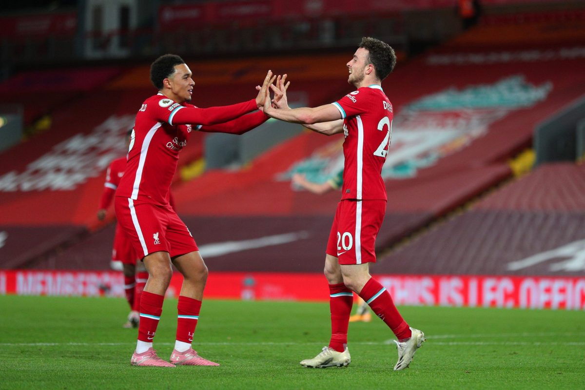 LIVERPOOL 2-1 SHEFFIELD UTD: JOTA HEADER SEALS LIVERPOOL COMEBACK WIN.