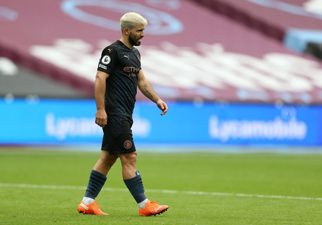 CITY'S INJURY WOES WORSEN BY AGUERO'S RETURN TO THE SIDELINES.