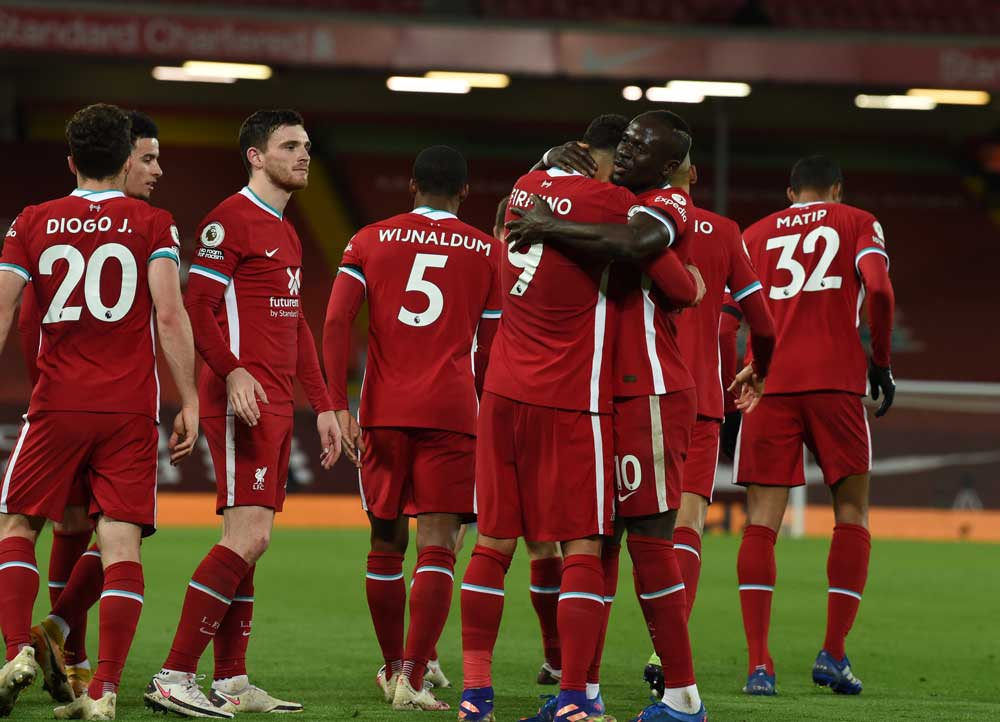 LIVERPOOL 3-0 LEICESTER: JOTA SETS CLUB RECORD AS REDS BEAT THE FOXES AT ANFIELD.