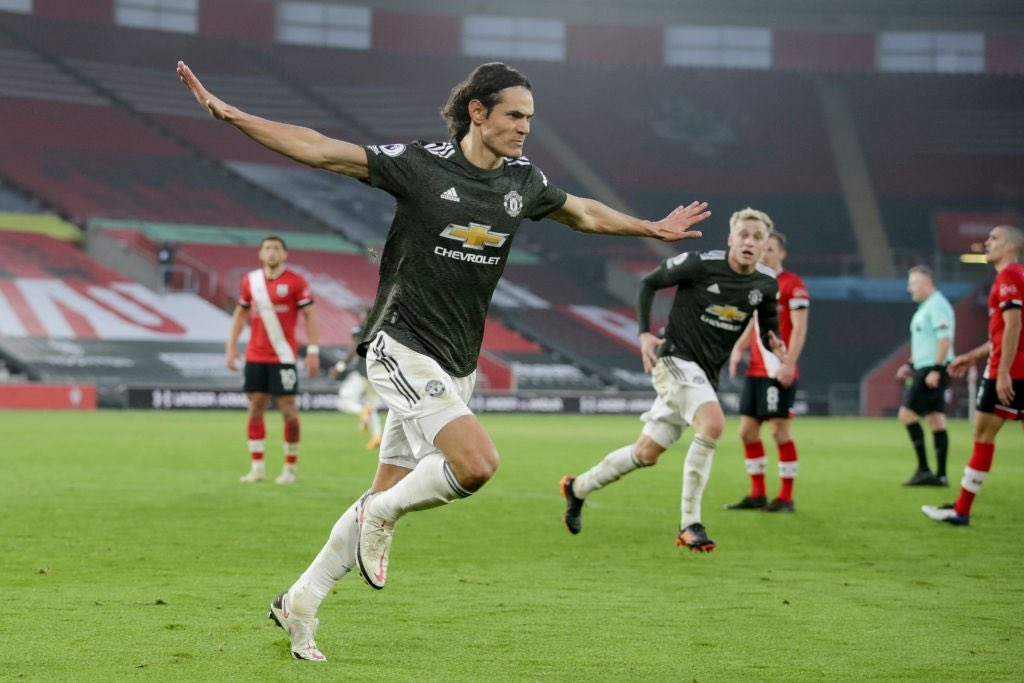 SOTON 2-3 MAN UTD: CAVANI BRACE COMPLETES COME BACK WIN FOR RED DEVILS.