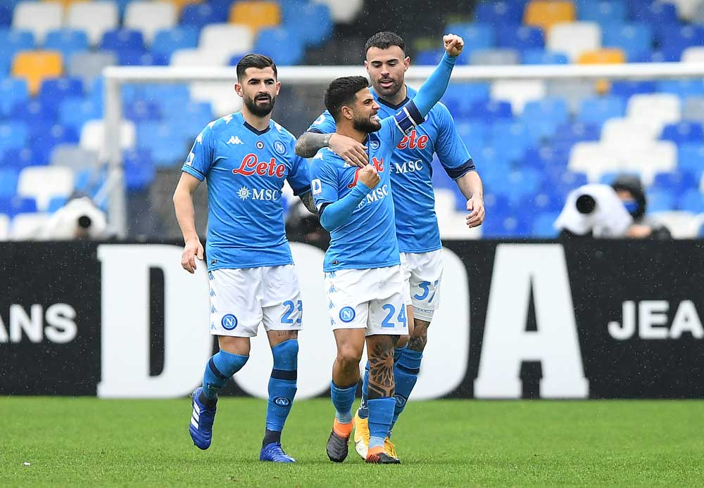 NAPOLI THRASH FIORENTINA TO GO THIRD ON SERIE A TABLE.