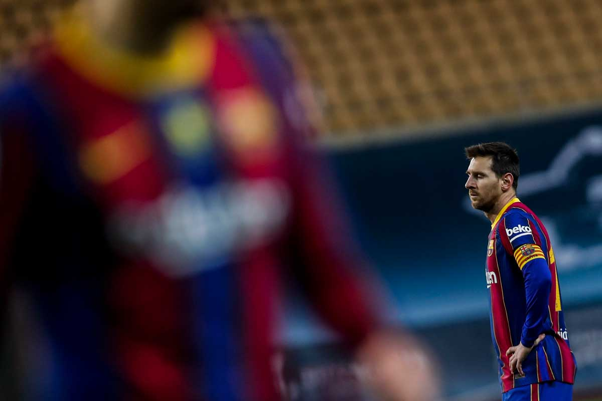 MESSI SEES RED AS ATHLETIC BILBAO STUN BARCELONA TO WIN SPANISH SUPER CUP.