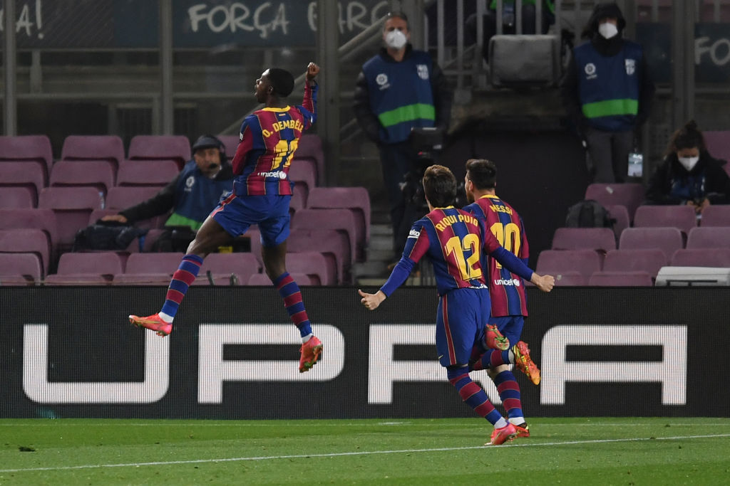 DEMBELE STRIKES LATE AS BARCELONA EDGE REAL VALLADOLID TO CUT ATLETICO LEAD TO ONE POINT
